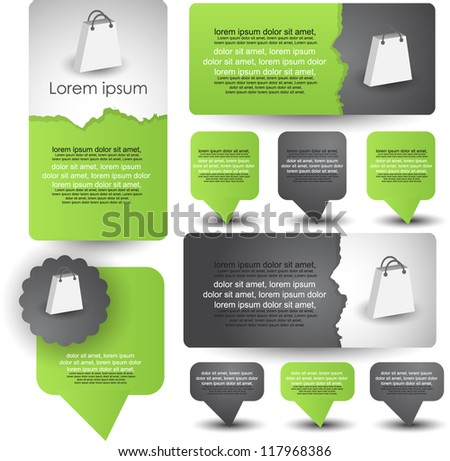 web banners with pointer/badges - stock vector