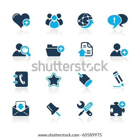 Web Blog & Internet Icons // Azure Series - stock vector