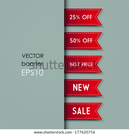 Web Bookmarks for you text. Vector illustration - stock vector