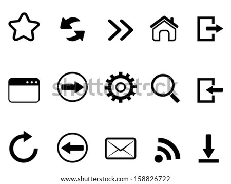 web browser tools icon - stock vector
