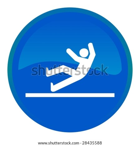 Web button - accident - stock vector