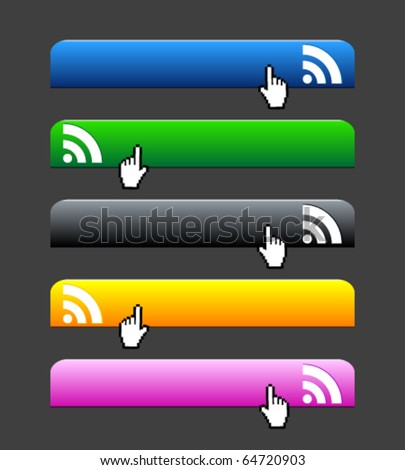 Web 2.0 buttons - stock vector
