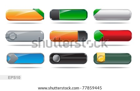 Web buttons collection. Blank buttons. EPS10 - stock vector