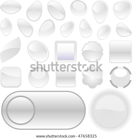 Web buttons for design. Vector set.