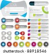 web buttons, forms and banner - stock vector