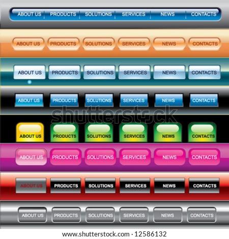 web buttons templates - stock vector
