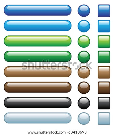 web buttons, with embed looking, another set with different colour is in my profile. - stock vector