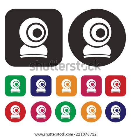 Web Cam icon . Camera icon - stock vector