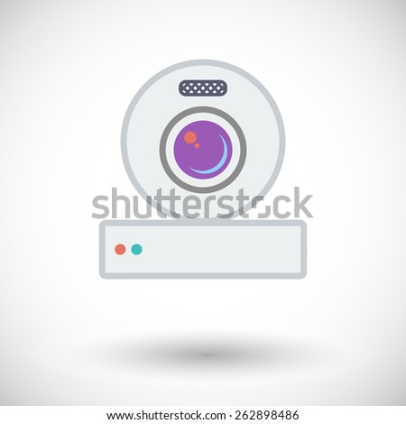 Web cam. Single flat icon on white background. Vector illustration. - stock vector