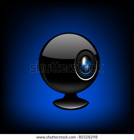 Web camera close-up. Vector