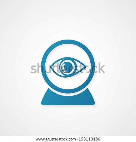 Web camera eye icon - stock vector