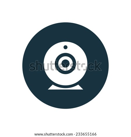 web camera icon on white background