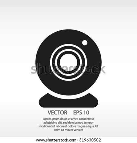 web camera icon. One of set web icons - stock vector