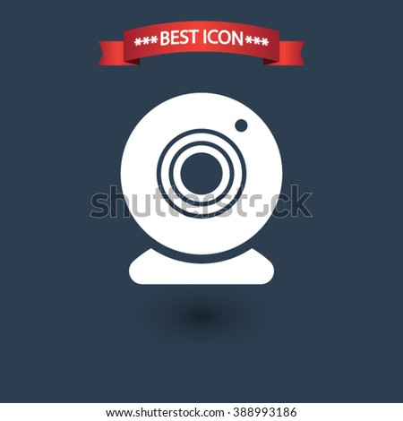 Web camera icon vector, Web camera icon eps10