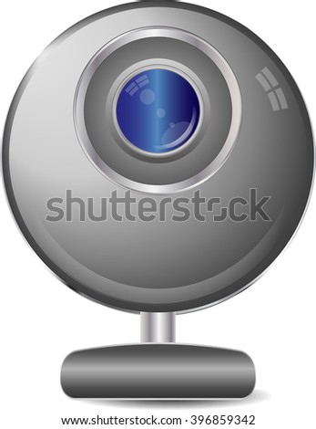Web camera on a white background