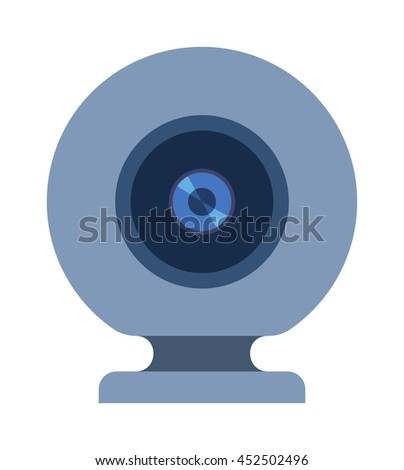 Web camera vector illustration isolated on white background. Web camera vector icon illustration. Web camera isolated vector. Web camera silhouette isolated - stock vector