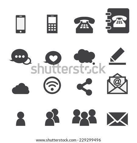 web communication - stock vector