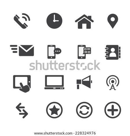 web communication icon - stock vector