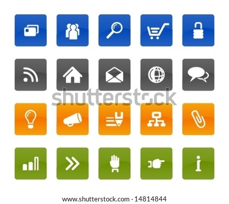 Web communication icons.