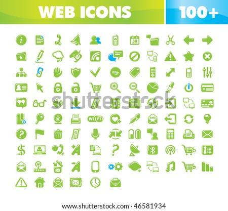 Web & Communication icons set. - stock vector