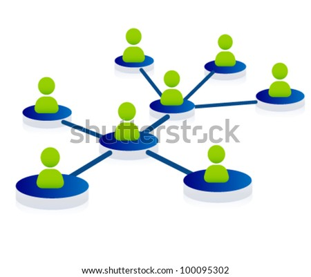 web, community, support, network, team illustration - stock vector
