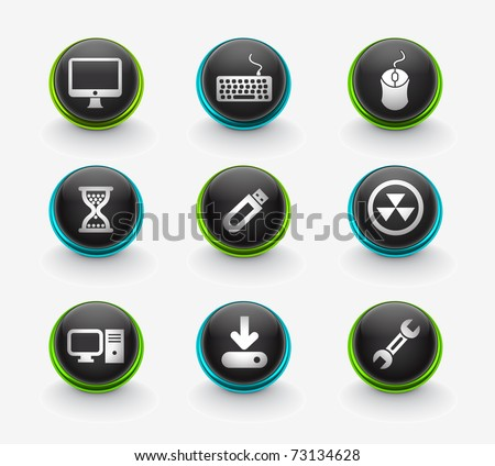 web computer icon for your web icon design used. - stock vector