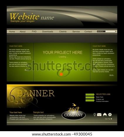 web design - stock vector