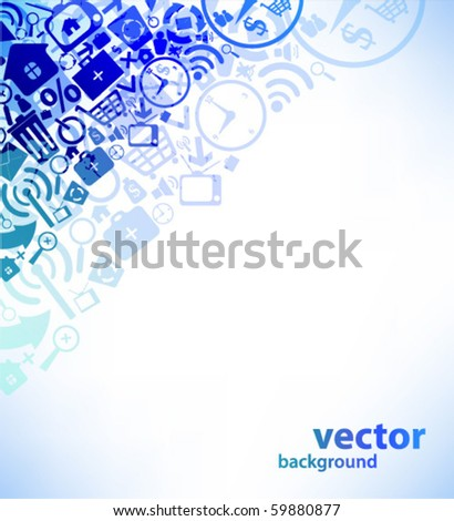 Web design background - stock vector