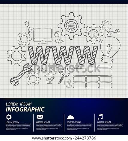 Web design concept vector Illustration - stock vector