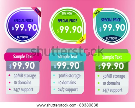 Web-design elements - stock vector
