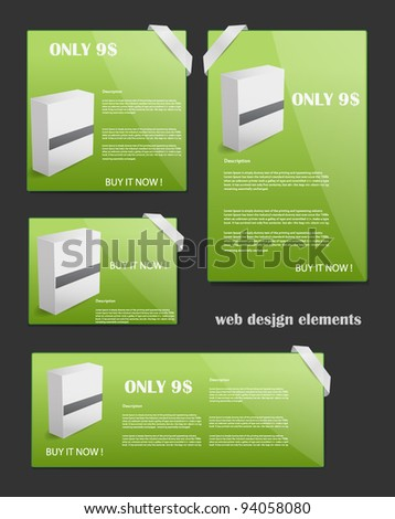 Web Design Elements Editable Collection - stock vector