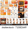 Web design elements extreme collection - frames, bars, 101 icons, bannes, login forms, buttons.4 websites,4software boxes and so on! - stock vector