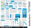 Web design elements extreme collection 2 - Many different form styles, frames, bars, icons, banners, login forms, buttons and so on! - stock vector