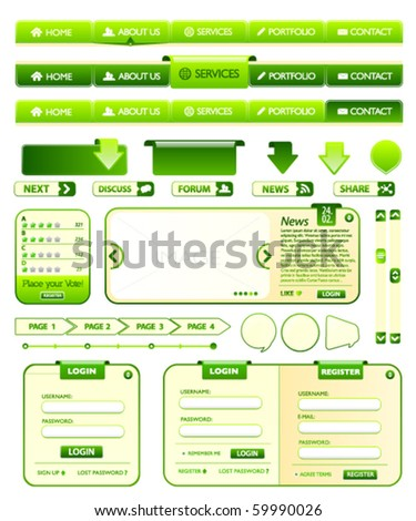 Web design elements pack 1 - stock vector