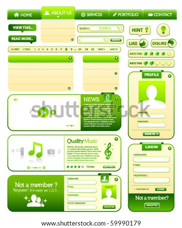 Web design elements pack 2 - stock vector