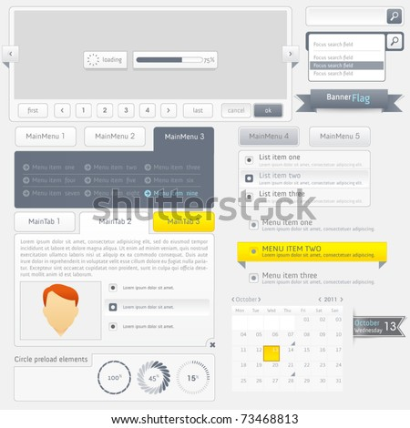 Web design elements set - stock vector