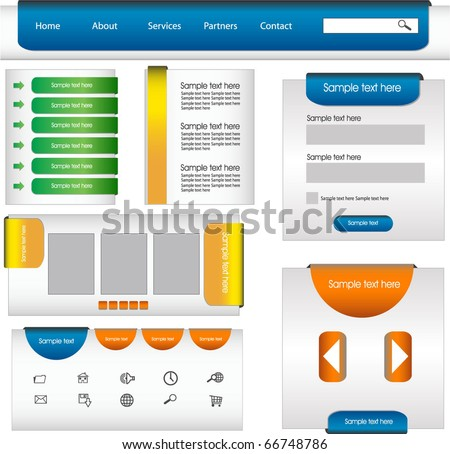 web design frame - stock vector