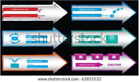 web design frame vector - stock vector