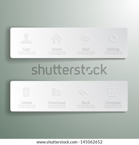 Web design Menu template - stock vector