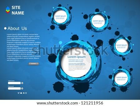 Web design, Modern Illustration, easy editable - stock vector
