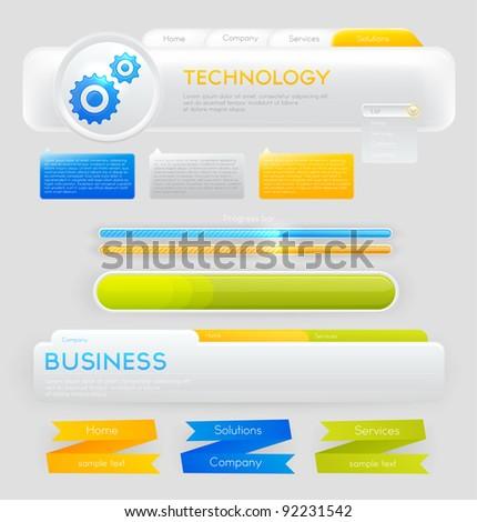 Web design navigation set - stock vector