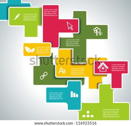Web design template - stock vector