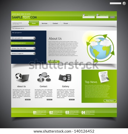 web design template, economy theme  - stock vector