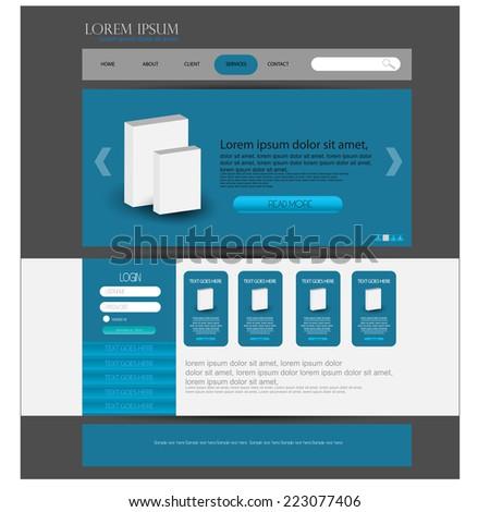 Web design template. vector - stock vector