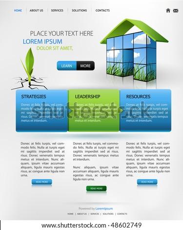web design vector template - stock vector