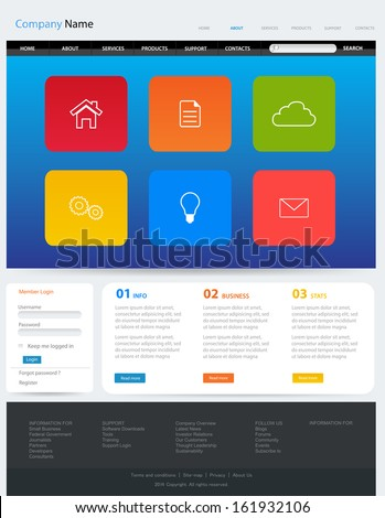Web Design Website Vector Elements - stock vector