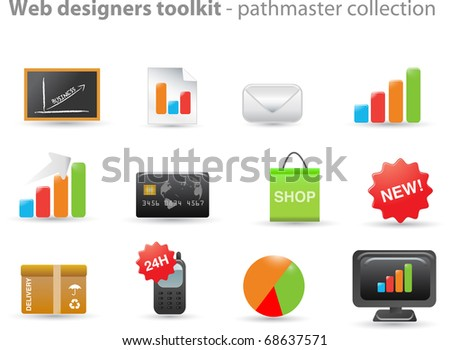 Web designers toolkit - pathmaster series - stock vector