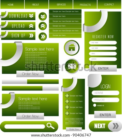 web designing element collection