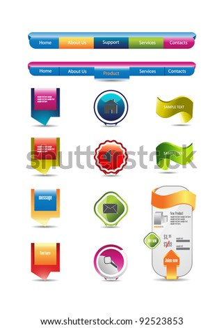 web designing elements - stock vector