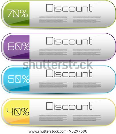 web discount elements - stock vector